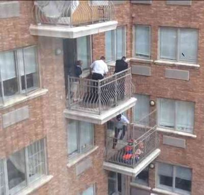 Attempted rescue of Levi Nemon Crown Heights 580 Crown Street 5-21-2014