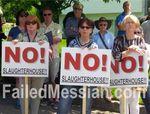 Anti-slaughterhouse protest 6-1-2014 Ramapo 2