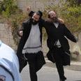 Hasidim celebrating outside prison 6-27-10 cropped