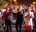 Right wing racist protesters at Jewish-Arab wedding in Rishon LeTzion 8-17-2014