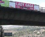 Lady Gaga Jerusalem billboard blotted out 9-2014