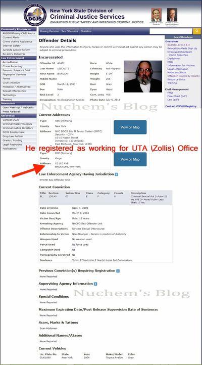 [Nuchem Rosenberg's blog] Sex Offender Registry Baruch Lebovits Marked