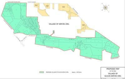 Map of proposed Satmar hasidic Village of  Glilos Kiryas Joel
