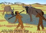 200,000 years ago human prehistory graphic