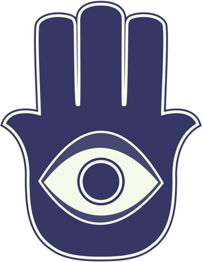 Hamsa with evil eye