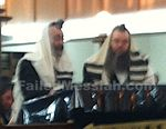 Rabbi Meir Shlomo Kluwgand reading the megillah for the conregation in the main Chabad shul in Melbourne 3-5-2015 closeup watermarked