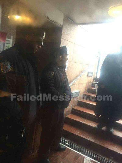 Police inside 770 stairway 3-5-2015