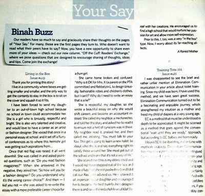 Binah Magazine letter 03-16-2015