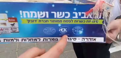 Kosher for Passover cigarettes Brooklyn 3-30-2015
