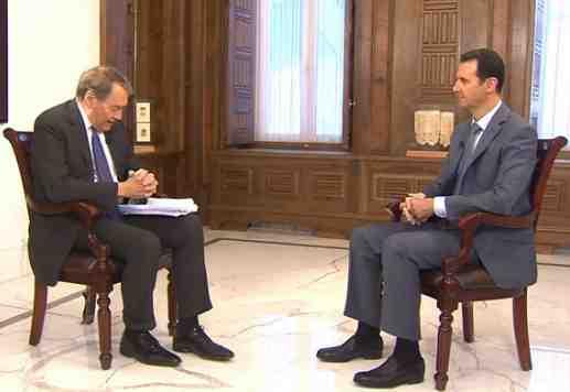 Charlie Rose and Bashar al-Assad 3-2015