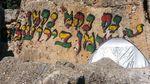 Graffiti on ancient synagogue on Mount Meron 5-2015