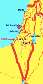 Ashdod map of Israel