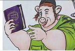 Haredi soldier as pig cartoon 2-4-2015