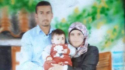 The Dawabsheh family- the father Sa'ad, the mother Reham and Ali Saad