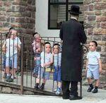 Haredi kids and teacher Brooklyn