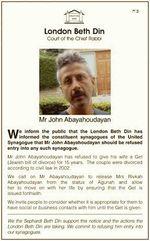 John Abayahoudayan get refusal poster 11-2015