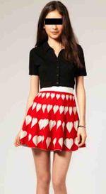 Girl in skirt