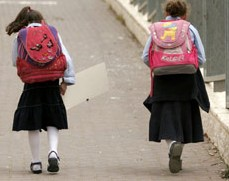 Little haredi girls backpacks