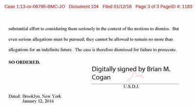 Stein v World Wide Plumbing dismissal  1-12-2016 2_Page_1