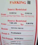 Freundel moving truck sign 11-3-2014