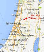Ma'ale Shomron map