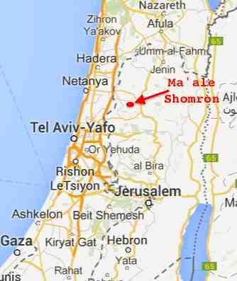 Ma'ale Shomron map