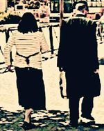 Haredi couple from behind