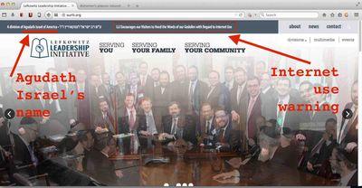 Agudath Israel website 1-16-2015 annotated