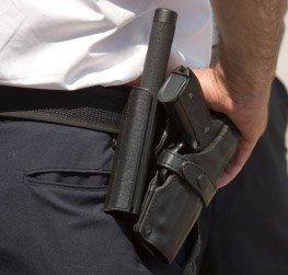 Gun flashlight security guard