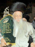 Rabbi Mayer Alter Horowitz Jerusalem Bostoner Rebbe 2009 (Betzalel Gersten; Wikipedia; Creative Commons license)