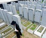Cemetary visited by Chabad hasid 5-2015