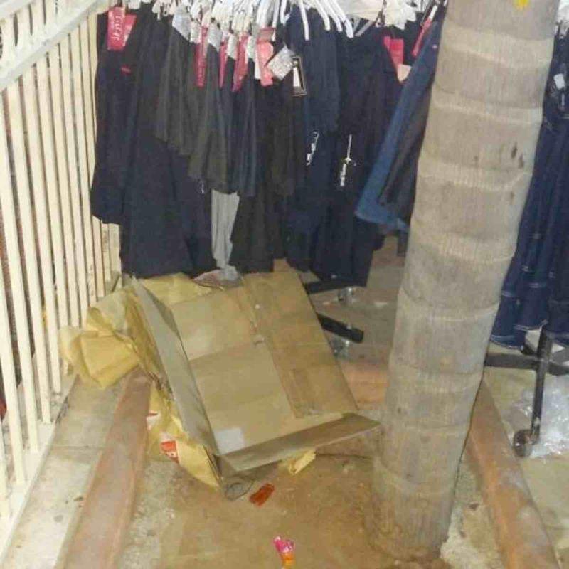 Cardboard box child found in Elad 3-25-2015