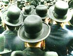 Haredi men from behind hats peyot low res