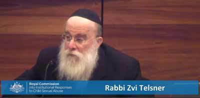 Rabbi Tzvi Hirsh Telsner Royal Commission