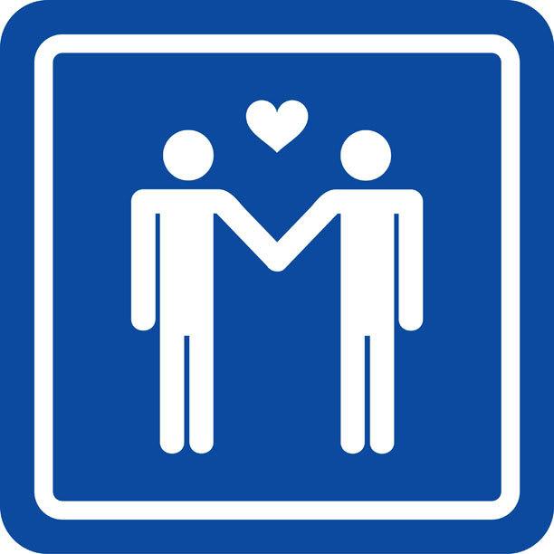 Gay Men Holding Hands Symbol