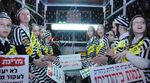 Edah Haredit kids dressed as concentration camp inmates anti-draft protest 11-14-2015