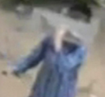 Haredi boy shields face as he vandalizes Ganots gym Bnei Brak 11-2015 security camera screenshot