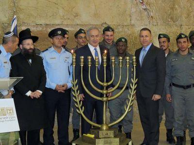 Official state gender-segregated Hanukkah candlelighting ceremony 12-6-2015