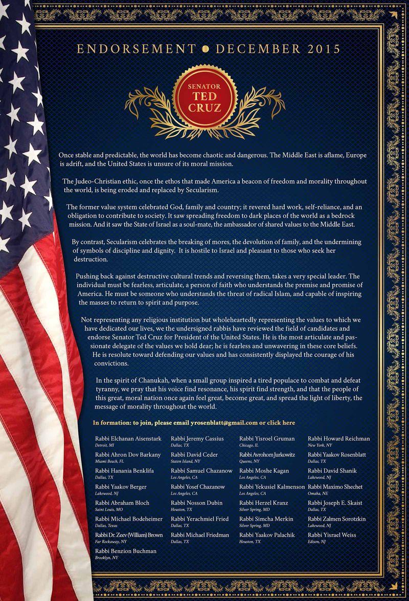 Orthodox haredi rabbis ted_cruz_endorsement_large 12-7-2015