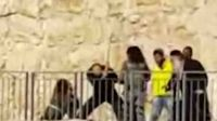Israeli Jew beats incapacitated wounded Palestinian terrorist with iron bar Jerusalem 12-23-2015