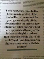 Rabbi Aharon Leib Steinman Nahal Haredi Soldiers Should Die