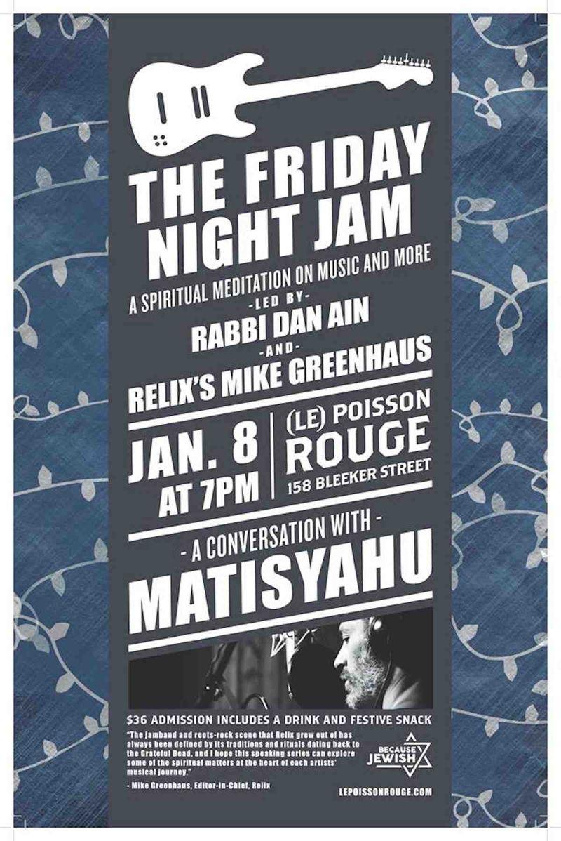 Matisyahu friday night conversation 1-8-2016
