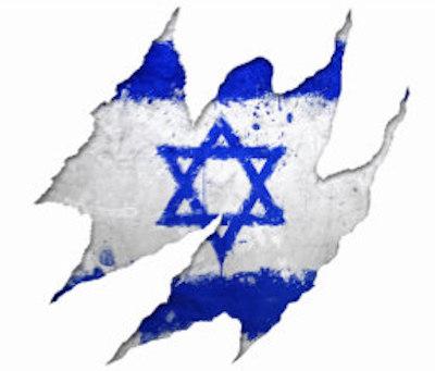 Torn Israeli flag