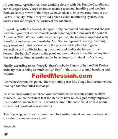 Agri Star Hershey Friedman to Philip Schein PETA September 28 2010_Page_1