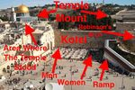 Kotel From Aish HaTorah-area roof annotated