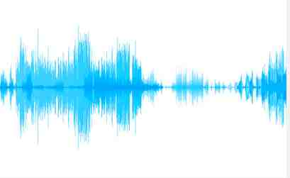 Sound waves of tonal speech, in this case, Cantonese