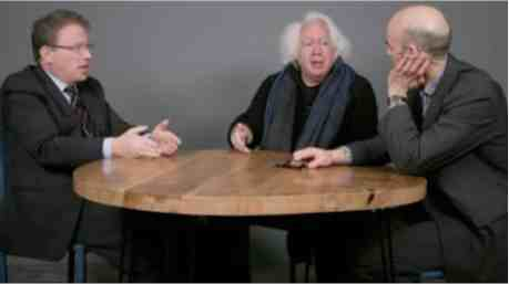 Jeffrey Goldberg, Leon Wieseltier and James Bennet