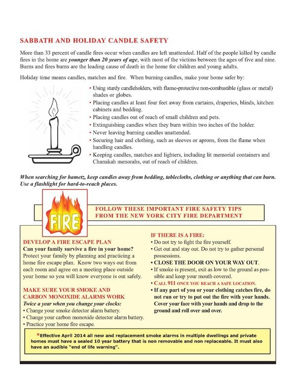 FDNYu0027s Fire Safety Recommendations For Jewish Observances    FailedMessiah.com