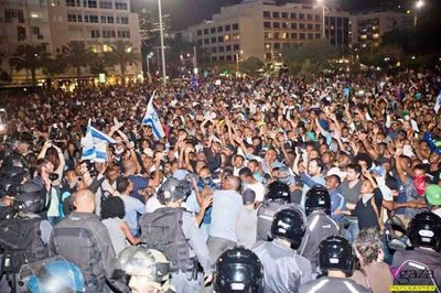 Ethiopian Jews protest against police brutality and racism 5-2015