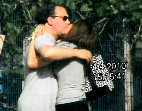 Rabbi Marc Schneier Kissing Gitty Leiner Israel 4-4-10